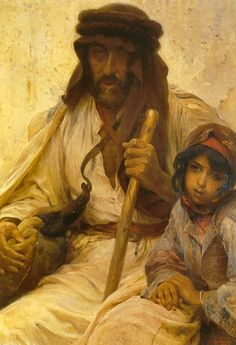 Bedouin with Young Girl by Alois Hans Schramm
