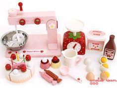 Mother Garden Wooden Cake Making Set ●●● amelie's room