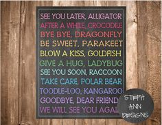 ON SALE See You Later Alligator Chalkboard by StephAnnDesigns