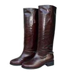 Christian Louboutin Shoes Leather Tall Boots Brown