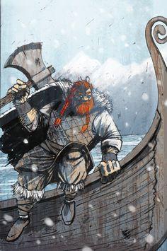 Viking by TylerChampion on deviantART Viking Art, Viking Symbols, Viking Warrior, Fantasy Comics, Anime Fantasy, Viking Character, Fantasy City, Illustrations And Posters, Mythology