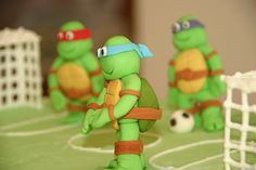 Denver wants a ninja turtle cake for his Birthday... I think I'll make a round pizza cake with sculpted ninja turtles on top of it.