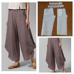 Pants with strut on the bottom pattern Modelliste (withVisite o post para mais.Discover thousands of images about Ankle puff pants pattern Sewing Pants, Sewing Clothes, Diy Clothes, Clothes For Women, Clothing Patterns, Dress Patterns, Sewing Patterns, Diy Kleidung, Diy Couture