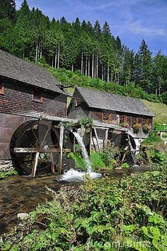 Hexenlochmuehle, Black Forest, Schwarzwald, Germany © Travelpeter that's it! That's the water wheel we visited in Germany! Beautiful World, Beautiful Places, Black Forest Germany, Water Mill, Le Moulin, Covered Bridges, Germany Travel, Vacation Spots, Places To See