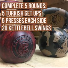 Workout Wednesday! Use an appropriate weight on the Get UPS and try and go a bit heavier on Presses and Swings. Make sure to keep correct form! Get more workouts like this each week for free in your email inbox by clicking the link in bio! #kettlebell #kettlebells  #kettlebellworkout #kettlebellroutine  #kettlebelltraining #outdoorworkout #homeworkout  #workoutathome  #crossfit  #personaltrainer  #homegym #garagegym #strongfirst #simpleandsinister #gymowner  #stren...