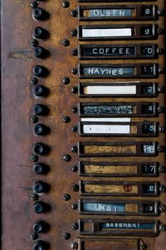 Olsen Over cOffee, reclaimed, signage - I'd love to have something like this outside of our front door. You've Got Mail, Co Working, Wabi Sabi, Kitsch, Signage, Abandoned, Pop Art, Old Things, Typography