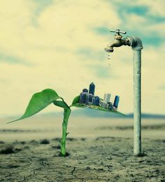 Photomontage, Save Water Save Life, New Foto, Save Environment, Water Poster, Green Companies, Save Our Earth, Save Nature, Illustration