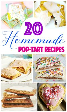 Do you love the humble pop-tart? Here are 20 Homemade Pop-Tart recipes you must try if you& looking for a pop-tart fix for breakfast, lunch, or snacks! Just Desserts, Delicious Desserts, Dessert Recipes, Yummy Food, Oreo Desserts, Candy Recipes, Fancy Desserts, Sweet Recipes, Pop Tart Recipes