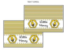 Free Bumble Bee Treat Toppers #bumblebee #treattoppers