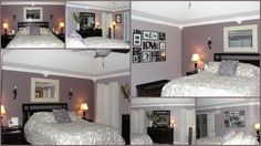 Master bedroom: same wall colors, different bedspread color. I really like this combo.
