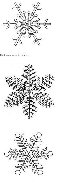 snowflakes – drawings from an early encyclopedia of actual frozen snow crystals