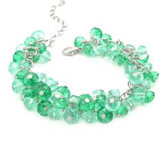 Look at the beautiful green beads! Emerald was voted color of year by Pantone color wheel! Get yourself some!