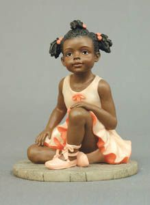 Genuine Porcelain China Made In Japan Info: 3689423518 African American Figurines, African American Dolls, Black Figurines, Indian Dolls, Little Ballerina, Black Ballerina, Black Artwork, Ceramic Animals, Collectible Figurines