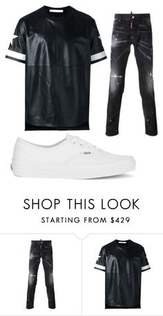 """""""O/S B 3"""" by hannah-graves ❤ liked on Polyvore featuring Dsquared2, Givenchy, Vans, men's fashion and menswear"""