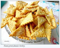 Slané syrovo-šunkové krekry (fotorecept) - My site Snack Recipes, Dessert Recipes, Cooking Recipes, Snacks, Apple Pie, Pizza, Food And Drink, Appetizers, Chips