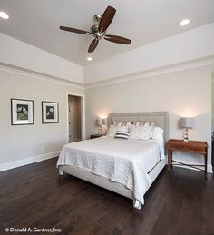 This master bedroom is such a calming retreat. The Hartwell #1221