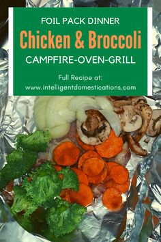 How to make a foil pack dinner on the grill. This recipe is for Chicken and Broccoli Hobo dinner and includes instructions on how to fold the foil. You can make foil pack dinners in the oven, on the grill or a campfire. #foilpackdinner #easychickenrecipe #chickenthighrecipe #dinnerideas Hobo Dinners, Foil Pack Dinners, One Dish Dinners, Grilled Cabbage, Grilled Meat, Friend Recipe, Healthy Dinner Recipes, Easy Recipes, Chicken Thigh Recipes