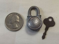 Excellent Vintage Antique Tiny Walsco 95 Padlock with Original Key Working | eBay
