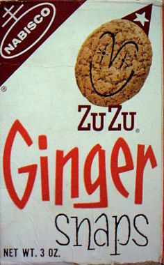ZuZu Ginger Snaps c. 1968 My Grandpa loved ginger snaps and Grandma always had some for us in the cookie jar when we went to their home. Retro Recipes, Vintage Recipes, Vintage Menu, Vintage Food, Vintage Stuff, Vintage Ads, Before I Forget, Cookie Company, My Childhood Memories