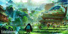 panda world concept 04 e1438097057521 Kung Fu Panda 3 Concept Art: Life in Panda Village