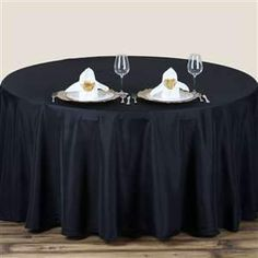 BLACK Wholesale Polyester Round Tablecloth For Wedding Banquet Restaurant Banquet Tablecloths, 90 Round Tablecloths, Banquet Tables, Black Tablecloth, Tablecloth Sizes, Linen Tablecloth, Round Table Covers, Round Tables, Wedding Table Linens