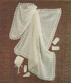 Baby DK Baby Knitted shawl set , great pattern to knit and good for the beginner Baby Knitting Patterns, Baby Patterns, Crochet Patterns, Baby Shawl, Quick Knits, Knitting Wool, Baby Boy Or Girl, Knitted Shawls, Pattern Paper