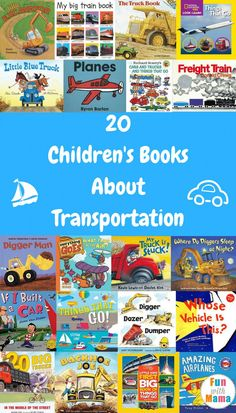 Kids have always been fascinated by cars, trains, planes and all things that go. There are so many great children's books about transportation to introduce them to all kinds of vehicles and machines. Preschool Books, Preschool Themes, Preschool Lessons, Book Activities, Preschool Activities, Library Books, Children's Books, Kid Books, Baby Books