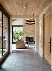 Atherton, CA. Entry Open to Living room. Arcanum Architecture.