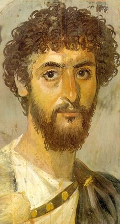 Fayum mummy portrait, Enkele van de vroegste portretten van mensen die geen koningen of keizers waren, zijn de Fayum-portretten (mummieportretten) die bewaard zijn gebleven in het droge klimaat van de regio Fayum in Egypte.