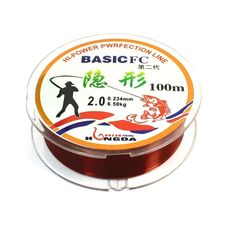 Dark Red Nylon 0.234mm Dia 6.5Kg 100M Fishing Line Spool for Fishman ** Click image to review more details.