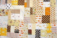 Carolyn, lets just collect fabrics with cream backgrounds and start trading them and sewing them together!