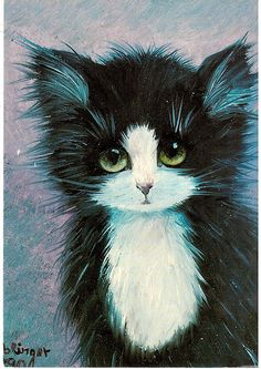 Postcrossing NL-1627652 - Cute cat card of original oil painting by Renate Koblinger. Sent by Postcrosser in the Netherlands.