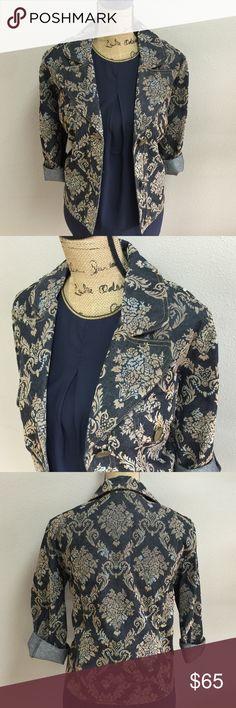 "PARALLEL Denim Jacket Dimensions: bust 40"", total length 24"" Parallel Jackets & Coats"