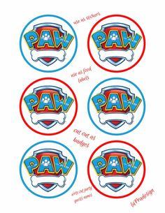 Paw Patrol Birthday Party Badge 3 inch circles 2 by laPradesign Insignia De Paw Patrol, Paw Patrol Badge, T Shirt Folie, Escudo Paw Patrol, Paw Patrol Lookout, Imprimibles Paw Patrol, Paw Patrol Stickers, Paw Patrol Party Decorations, Cumple Paw Patrol