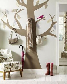 Looking for diy bedroom decorating ideas on a budget ? check out 15 creative DIY room wall ideas 2015 in London, UK. Diy Academy, Wall Design, Diy Clothes, Wardrobe Rack, Ladder Decor, Kids Room, Child Room, Wall Decor, Diy Crafts