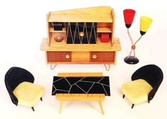 i'm fine i'm fine [muffled schreeching] - dollhouse furniture from the 1950s-70s