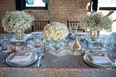 white wedding flowers winter wedding centerpieces