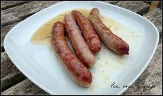 Pan, uvas y queso : Salchichas al vino blanco (tradicional o Crock-Pot...