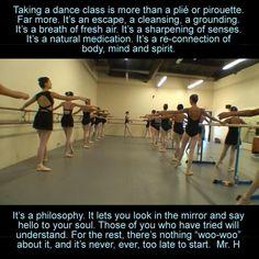 Taking a dance class