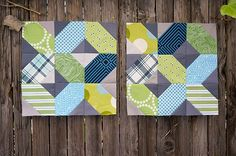 bee blocks, a finished quilt top, and quiltcon
