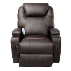 Ergonomic Heated Massage Recliner Sofa Chair Deluxe Lounge Executive w/ Control - Health & Beauty