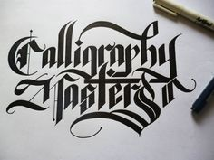calligraphy masters by mario andres fierro