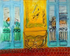 Raoul Dufy.  Yellow Console between Two Windows, 1948.
