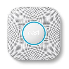 Step up to the next generation of smoke detectors. The Nest Protect uses state-of-the-art sensor technology to accurately detect smoke and carbon monoxide in your home. If it detects something, Nest Protect sends a voice alert to tell you what's w… Best Smart Home, Cool Tech Gifts, Photoelectric Sensor, Smartphone, Alienware, Smoke Alarms, Fire Alarms, Protecting Your Home, Alarm System