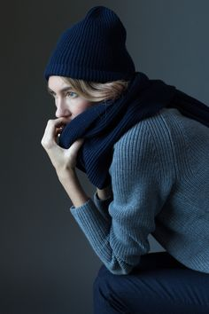 """everlane: """" November is all about bundling up. Chunky Knit Accessories arrive next week. """""""