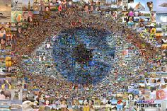 Eye of Life - Photo Mosaic by PictureMosaics Mosaic App, Mosaic Glass, Stained Glass, Photos Of Eyes, Photo Mosaic, Mosaic Designs, Large Photos, Life Photo
