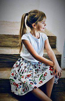 Detské oblečenie - Folk suknička - 9094683_ Folk, Floral, Skirts, Fashion, Moda, Popular, Fashion Styles, Flowers, Skirt
