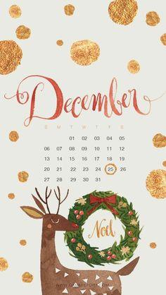 kalender dezember 2020 festlich dekoriert zeichnung von einem hirsch grüner weihntskranz die schönsten hintergrundbilder weihnachten handy