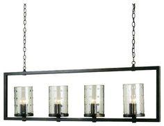 Trapeze Glass Hurricane Island Chandelier - chandeliers - Shades of Light