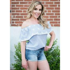7416015e702 YARN DYE OFF SHOULDER TOP – Olive Gypsy Boutique Bell Sleeve Top